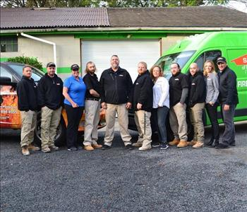 The entire SERVPRO of Bordentown/Pemberton team taking an outdoor photo